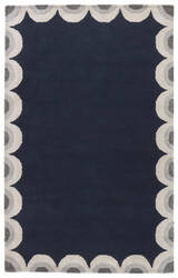 Jaipur Living Gramercy By Kate Spade New York Scallop Edge Gkn33 Dark Navy Area Rug