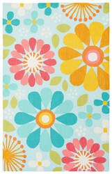 Jaipur Living Iconic By Petit Collage Spring Flowers Ibp09 Glacier Area Rug