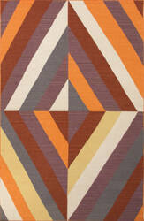 Jaipur Living En Casa By Luli Sanchez Flat-Weave Tunnel Lsf06 Tangerine - Ketchup Area Rug