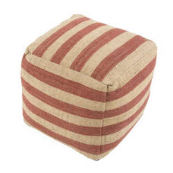 Jaipur Living Mason Pouf Metal Mas01 Chutney And Warm Sand