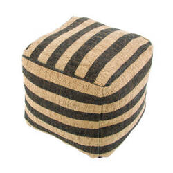 Jaipur Living Mason Pouf Metal Mas02 Phantom And Warm Sand