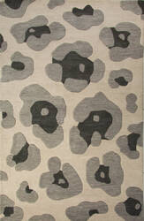 Jaipur Living National Geographic Home Collection Tufted Leopard Ngt03 Oyster Gray - String Area Rug