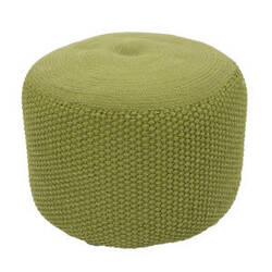 Jaipur Living Rustic Pouf Rustic Rus03 Spinach Green