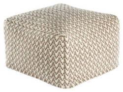 Jaipur Living Scandinavia Pouf Scan05 Scp16 Bungee Cord - Tuffet Area Rug