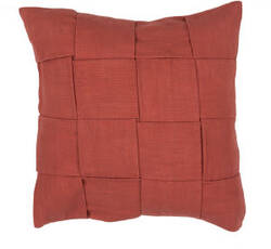 Jaipur Living Tabby Pillow Tabbysolid01 Tab02 Hot sauce