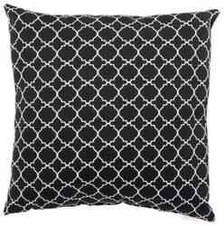 Jaipur Living Veranda Pillow Morocco Lattice Ver130 Black - White