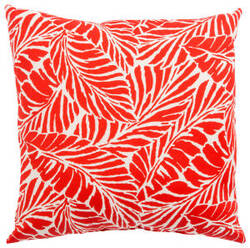 Jaipur Living Veranda Pillow Malkus Fresco Ver157 Red - White
