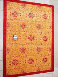 J. Aziz Peshawar Novelty Gold- 86901 Area Rug