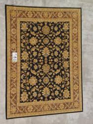 J. Aziz Peshawar Ult-138 Black-Brown 86952 Area Rug