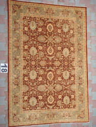 J. Aziz Peshawar Ult-Tab Brown-Green 87056 Area Rug