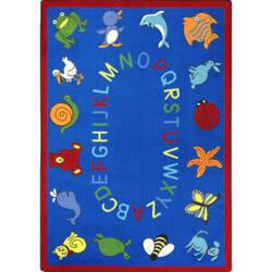 Joy Carpets Kid Essentials Abc Animals Blue Area Rug