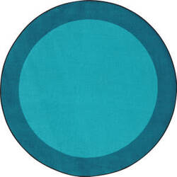 Joy Carpets Kid Essentials All Around Teal Area Rug