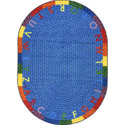 Joy Carpets Kid Essentials Alphabet Braid Multi Area Rug