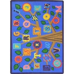 Joy Carpets Kid Essentials Alphabet Leaves Soft Area Rug