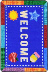 Joy Carpets Kid Essentials Alphabet Upcycle Multi Area Rug