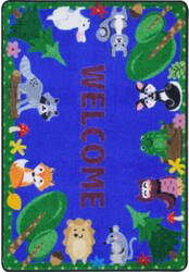 Joy Carpets Kid Essentials Animals Among Us Multi Area Rug