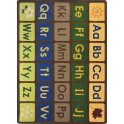 Joy Carpets Kid Essentials Library Blocks Multi Area Rug