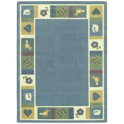 Joy Carpets Kid Essentials Baby Blues Soft Area Rug