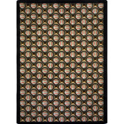 Joy Carpets Games People Play Bases Loaded Leather Glove Area Rug