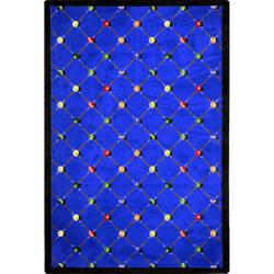 Joy Carpets Games People Play Billiards Blue Area Rug