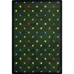 Joy Carpets Games People Play Billiards Green Area Rug