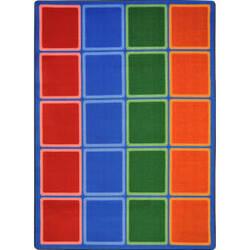 Joy Carpets Kid Essentials Blocks Abound Primary Area Rug