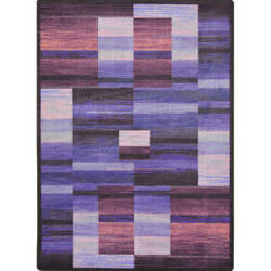 Joy Carpets Kid Essentials Boomblox Purple Area Rug