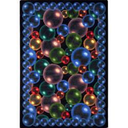 Joy Carpets Kaleidoscope Bubbles Rainbow Area Rug