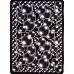Joy Carpets Kaleidoscope Bubbles Silver Area Rug