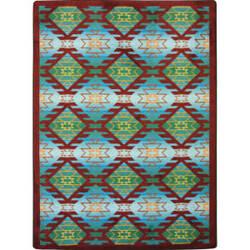 Joy Carpets Kaleidoscope Canyon Ridge Desert Turquoise Area Rug