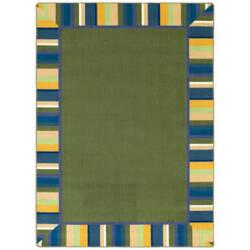 Joy Carpets Kid Essentials Clean Green Bold Area Rug