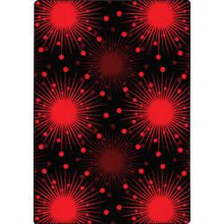 Joy Carpets Kaleidoscope Cosmopolitan Red Area Rug