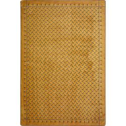 Joy Carpets Kaleidoscope Diamond Plate Gold Area Rug