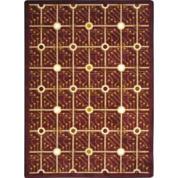Joy Carpets Kaleidoscope Electrode Burgundy Area Rug