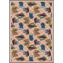 Joy Carpets Kaleidoscope Fabulous Fifties Beige Area Rug
