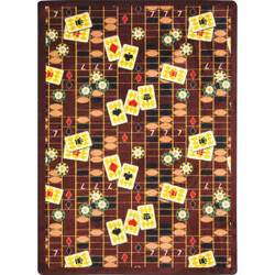 Joy Carpets Games People Play Feeling Lucky Rust Area Rug