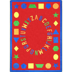 Joy Carpets Kid Essentials First Lessons Red Area Rug