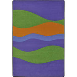 Joy Carpets Kid Essentials Flow Violet Area Rug