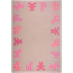 Joy Carpets Kid Essentials Frisky Friends Pink Area Rug
