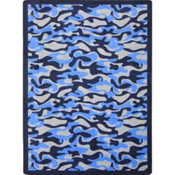 Joy Carpets Kaleidoscope Funky Camo Blue Area Rug