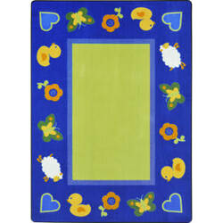 Joy Carpets Kid Essentials Green Space Multi Area Rug