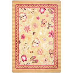 Joy Carpets Kid Essentials Hearts And Flowers Multi Area Rug