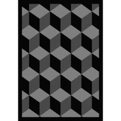 Joy Carpets Kaleidoscope Highrise Black Area Rug