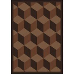 Joy Carpets Kaleidoscope Highrise Chocolate Area Rug