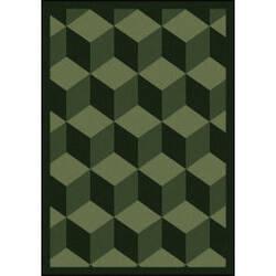 Joy Carpets Kaleidoscope Highrise Emerald Area Rug