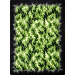 Joy Carpets Kaleidoscope Inferno Green Area Rug