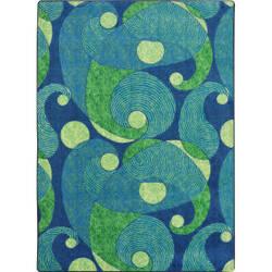 Joy Carpets Kid Essentials Jazzy Blue/Teal Area Rug