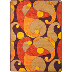 Joy Carpets Kid Essentials Jazzy Orange/Purple Area Rug