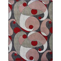 Joy Carpets Kid Essentials Jazzy Red/Gray Area Rug