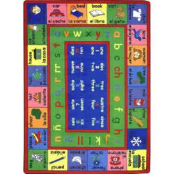 Joy Carpets Kid Essentials Lengualink Spanish Multi Area Rug